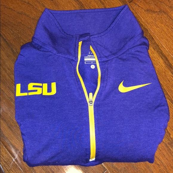 Nike Sweaters - LSU Nike running dri-fit half zip